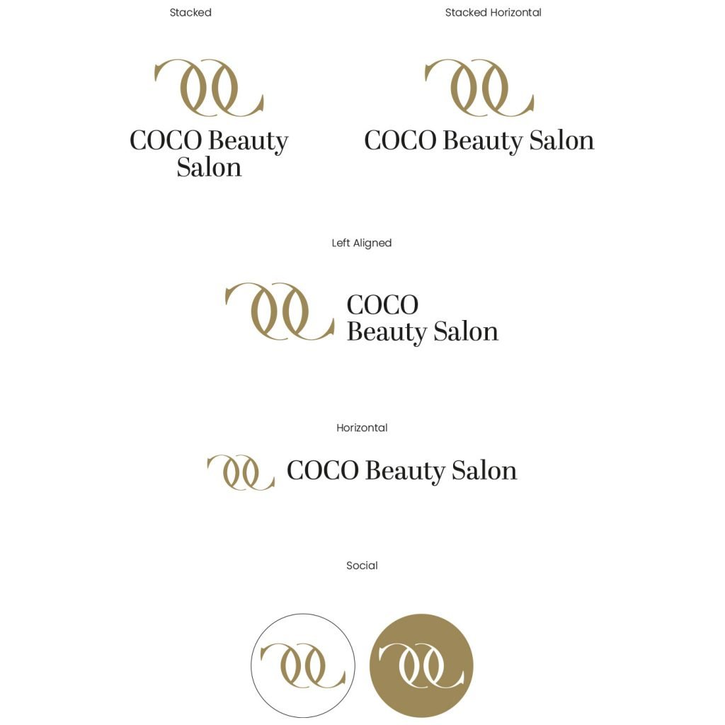 COCO Beauty Salon Logo Variations