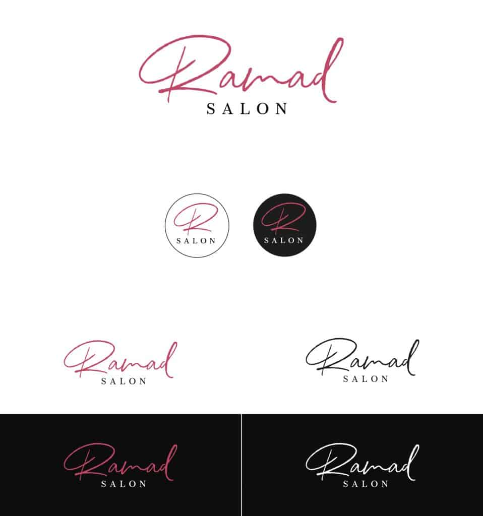 Ramad salon new Logo Variations